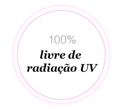 é um tratamento 100% livre de radiação UV, sem ingredientes químicos e suave para utilização diária